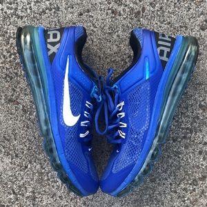 Nike AirMax shoes blue
